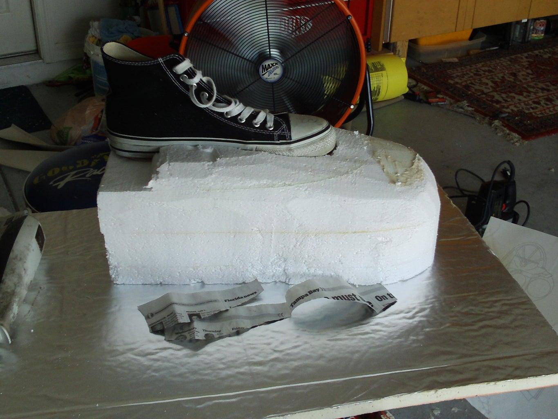 Making the Platform Shoes.