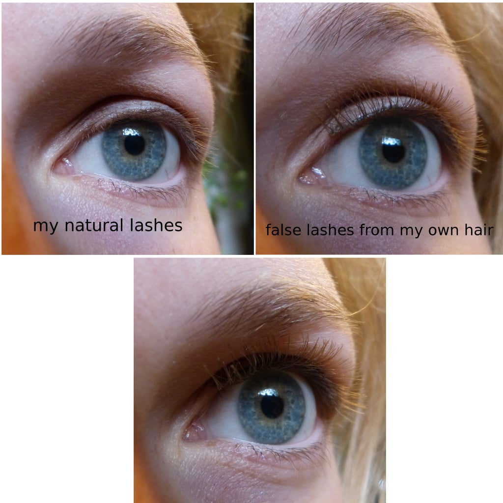 DIY Lashes From Own Hair