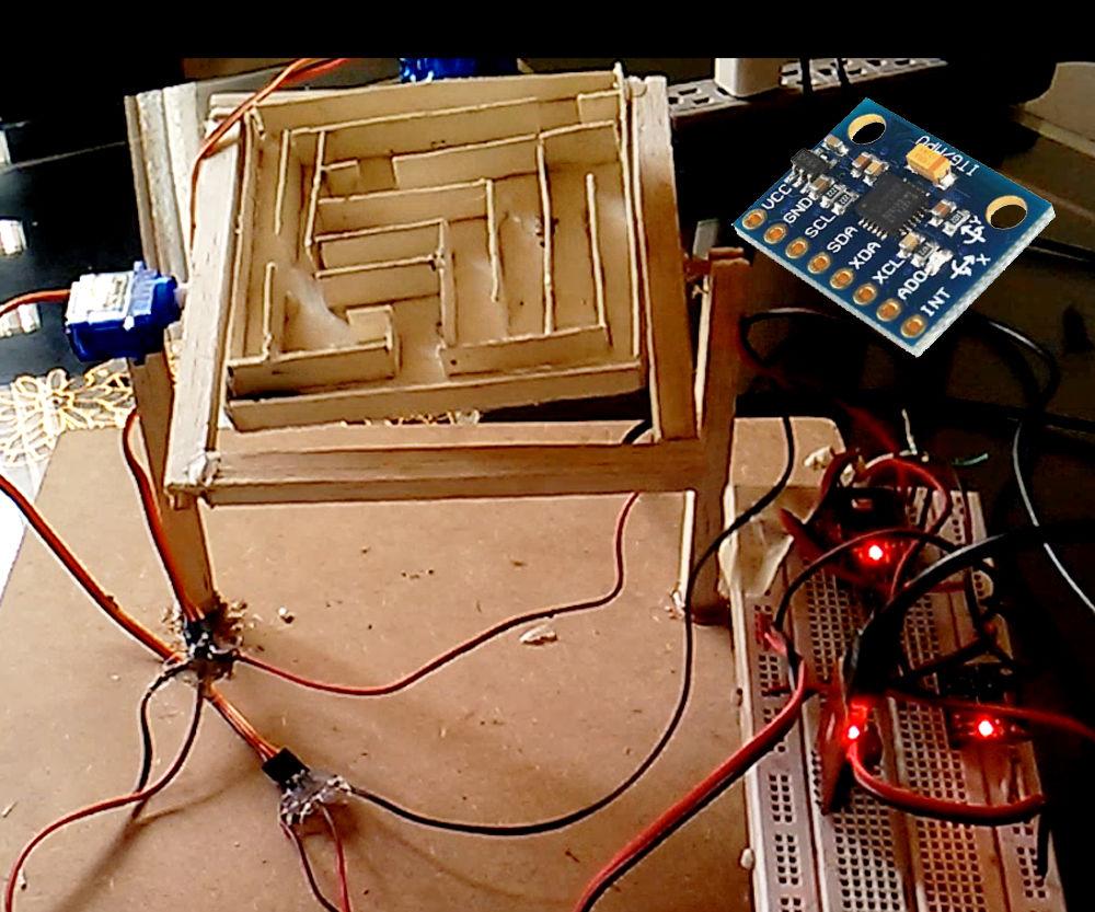 Servo Maze Controlled by Gyroscope - Arduino