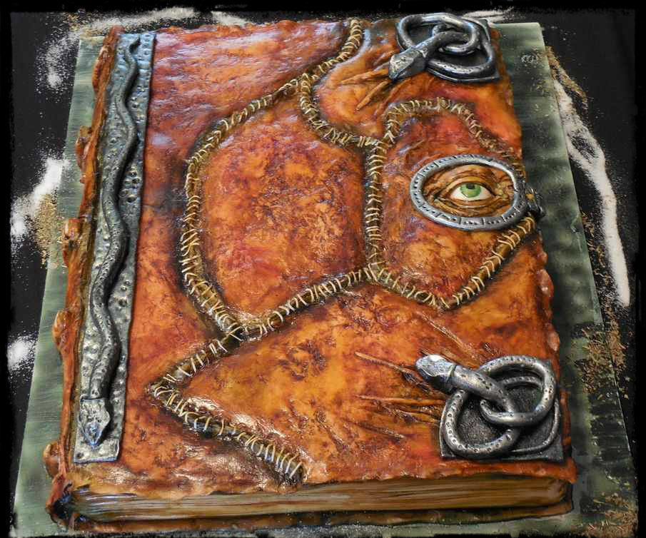 Hocus Pocus spellbook cake.