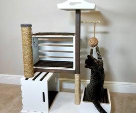 如何用木板建造现代猫公寓