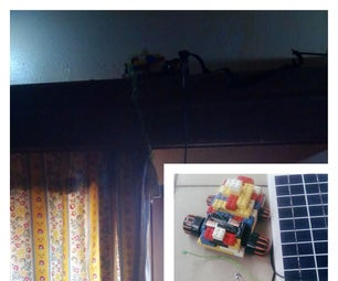 Solar Powered: Automatically Open Window Drapes(curtains) in the Morning and Close at Night.