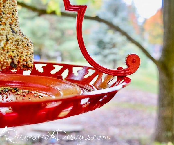 How to Turn a Hanging Light Fixture Into a Bird Feeder