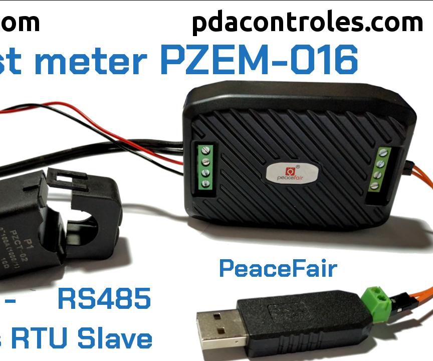 Initial Review Meter PZEM-016 Modbus RTU RS485 by PeaceFair