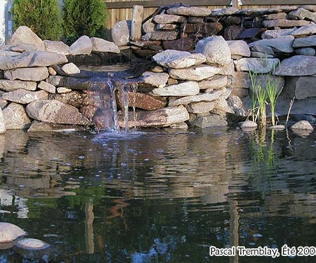 Waterfall for Pond or Water Garden - Building Cascading Pond Waterfalls