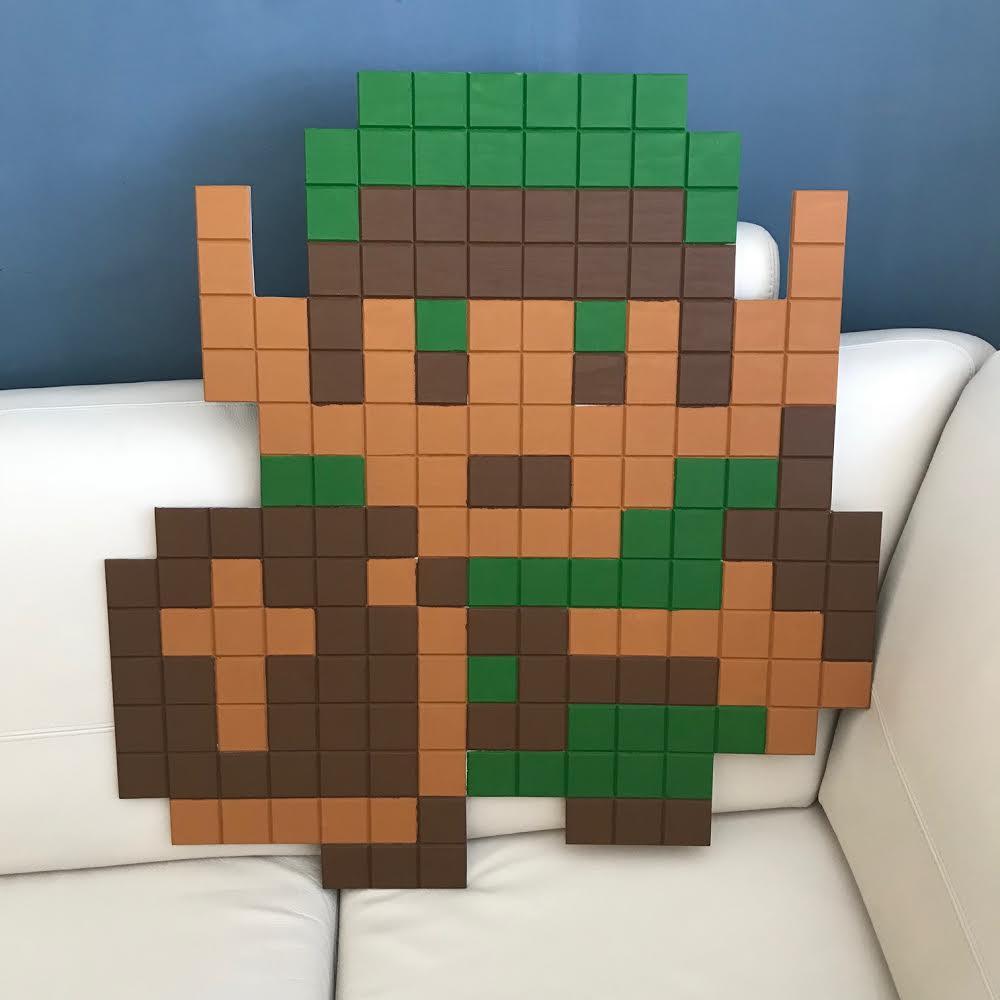 Make a Wooden 8-bit Pixel Link   the Legend of Zelda Pixel Art