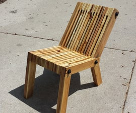 Reclined Pallet Wood Chair