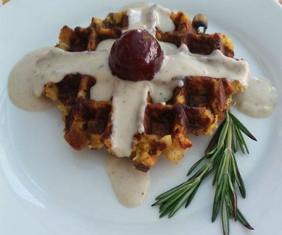 Thankffles- Thanksgiving Leftover Waffles