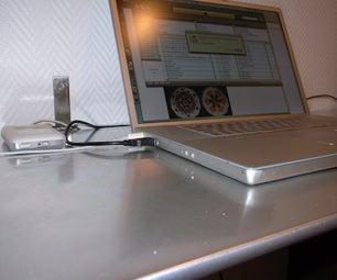 Aluminium Computer Desk for $30
