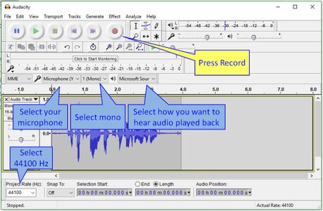 Recording Your First Clip