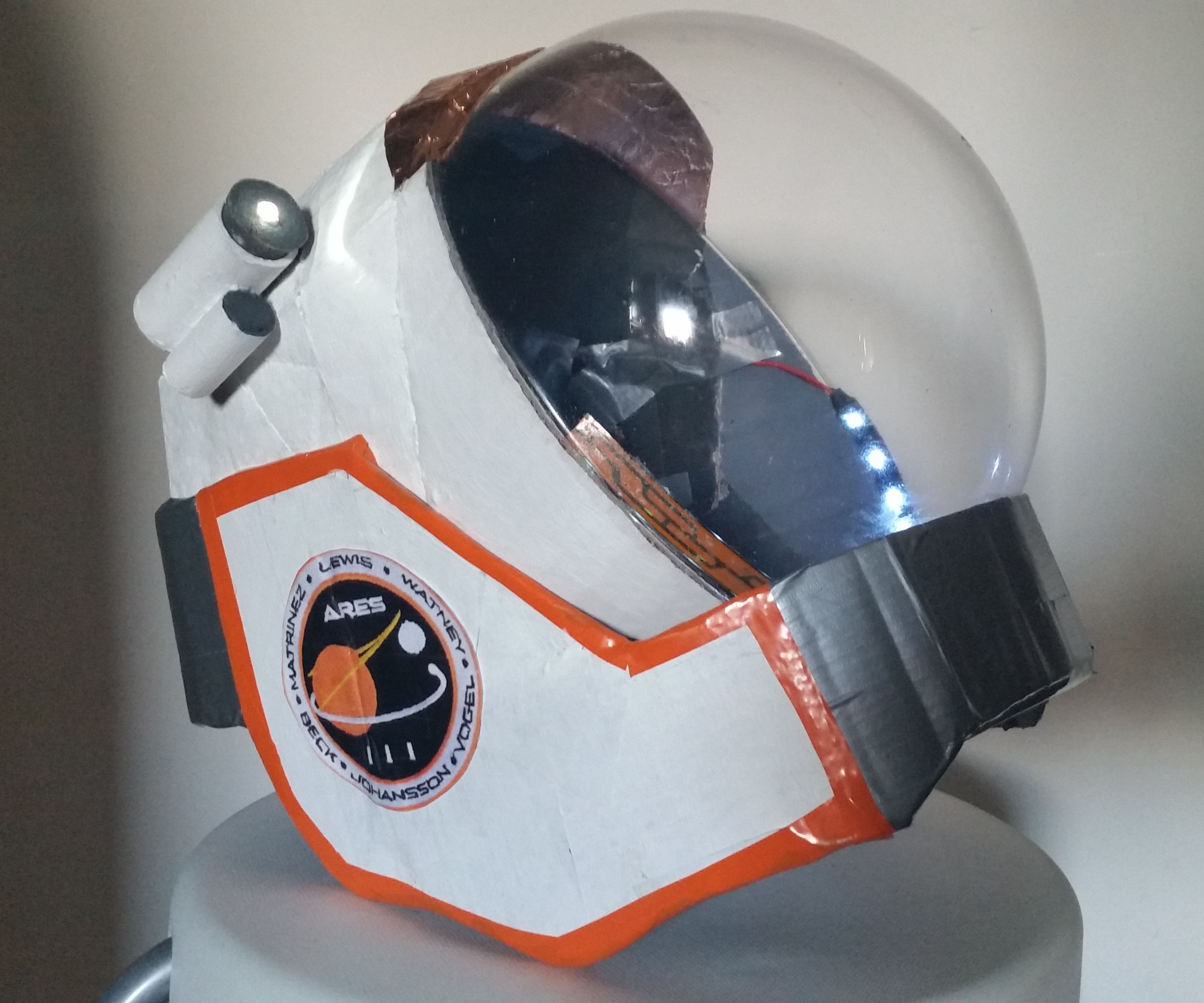 DIY Scratch Built Mark Watney The Martian space helmet (an attempt to make a replica)