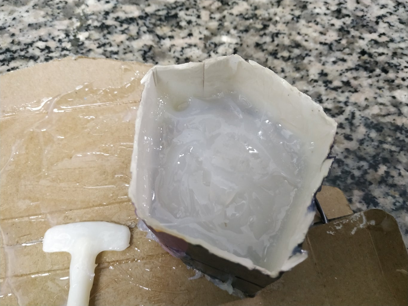 Fill the Mold With Epoxy