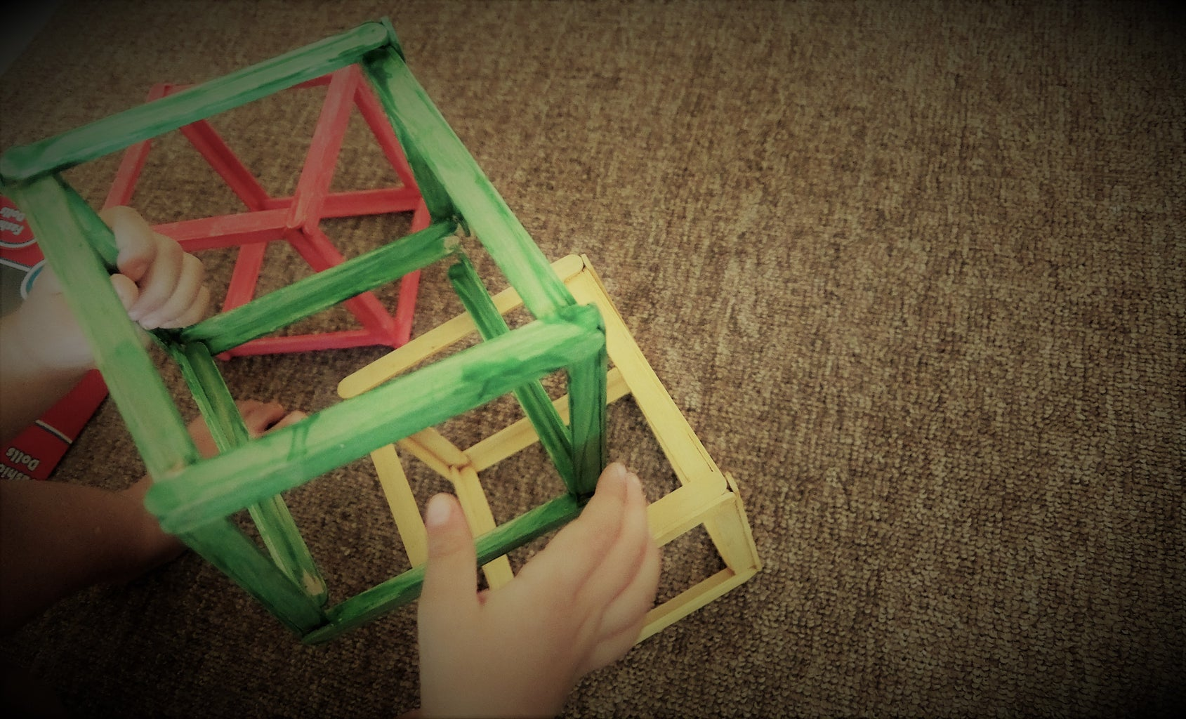 Popsicle Sticks Platonic Solids: Cube