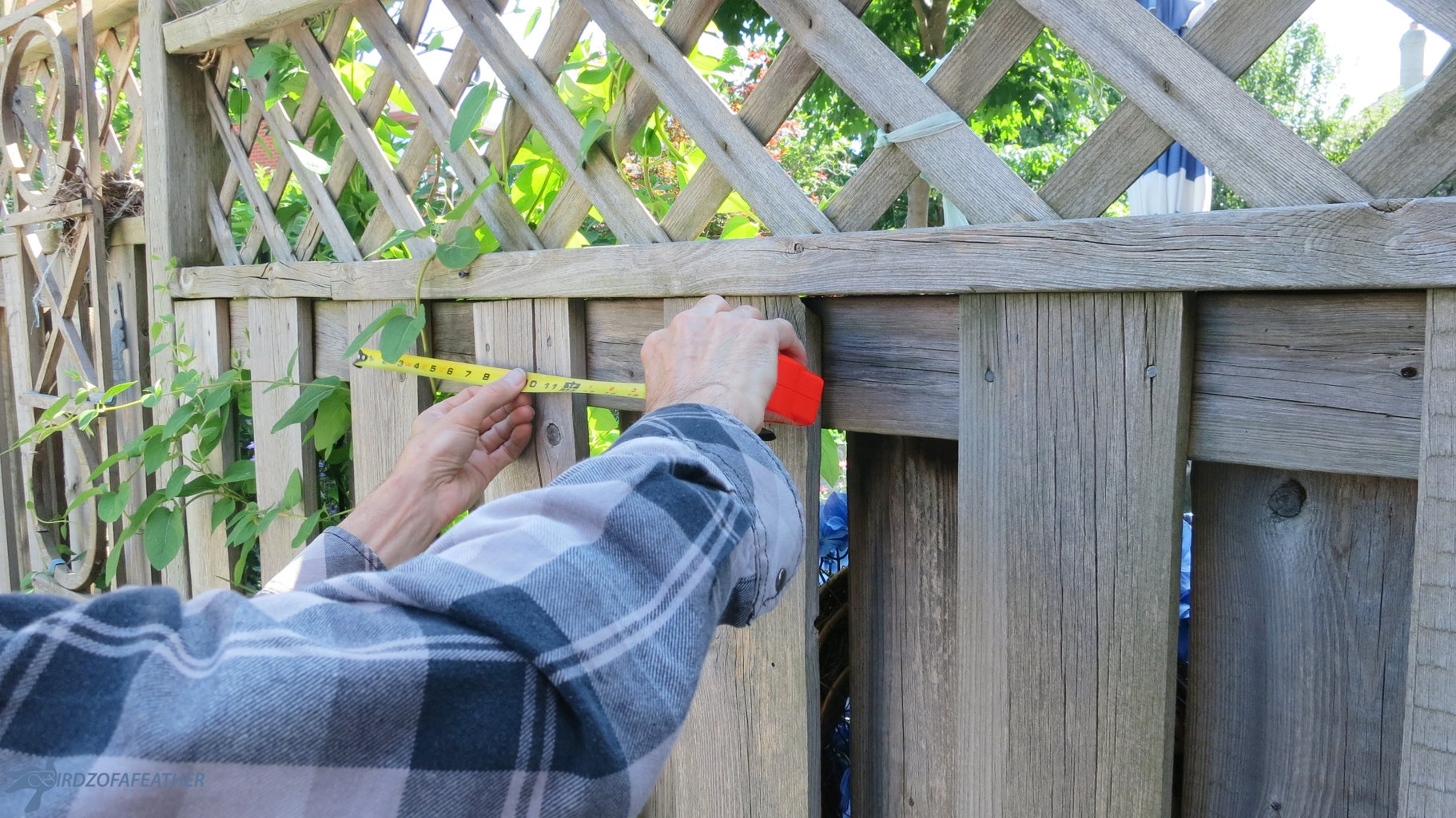 Measure and Pre-Drill Fence