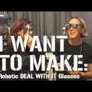 Robotic DEAL WITH IT Glasses