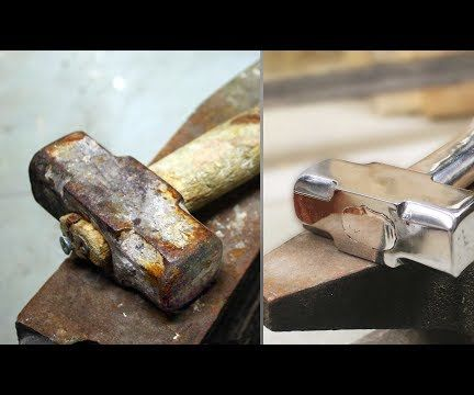 Restorin Old Rusty Hammer and Casting Aluminum Handle for It