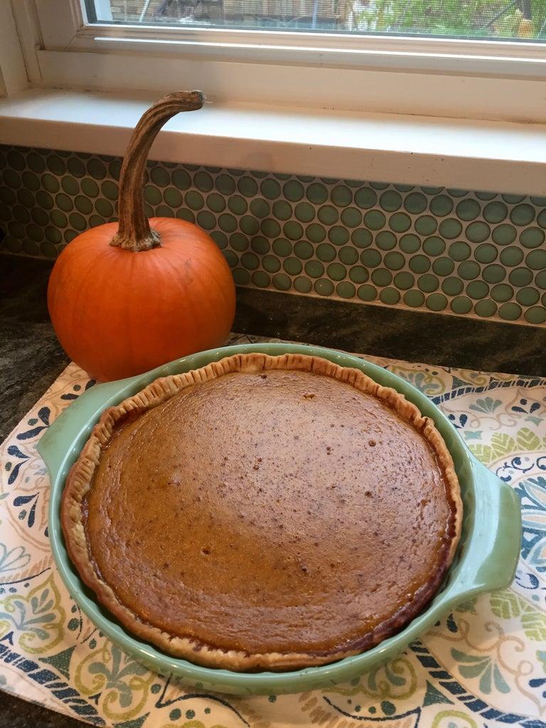 Pumpkin Pie Made With a Real Pie Pumpkin!