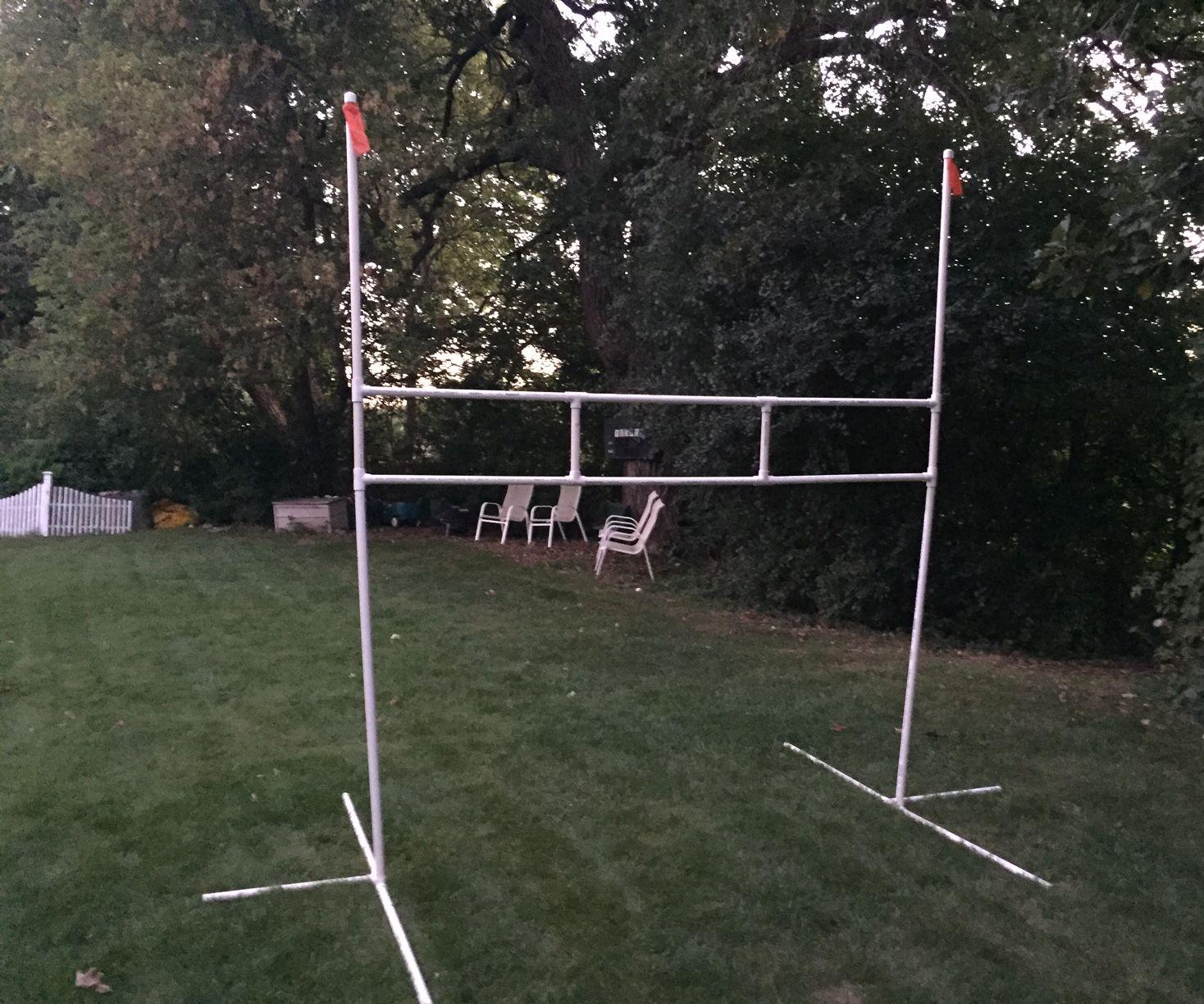 PVC goalposts - easy project
