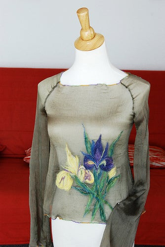Embellish With Fibers and Free Hand Embroidery
