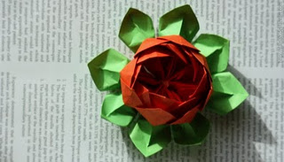 Origami Lotus Flower (Valentine's Day)