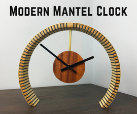 How to Make a Bent Plywood Modern Mantel Clock