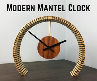 如何制作弯曲的胶合板现代壁炉钟