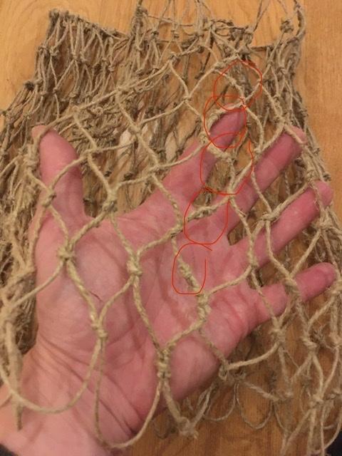 Bind a Net Bag or a Fishing Net