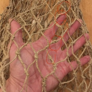Bind a Net Bag or a Fishing Net