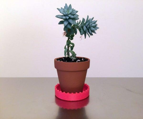 Mini 3D Printed Saucer for Under Your Mini Planter/Pot
