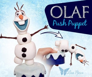 Melting OLAF - Push Puppet (FROZEN)