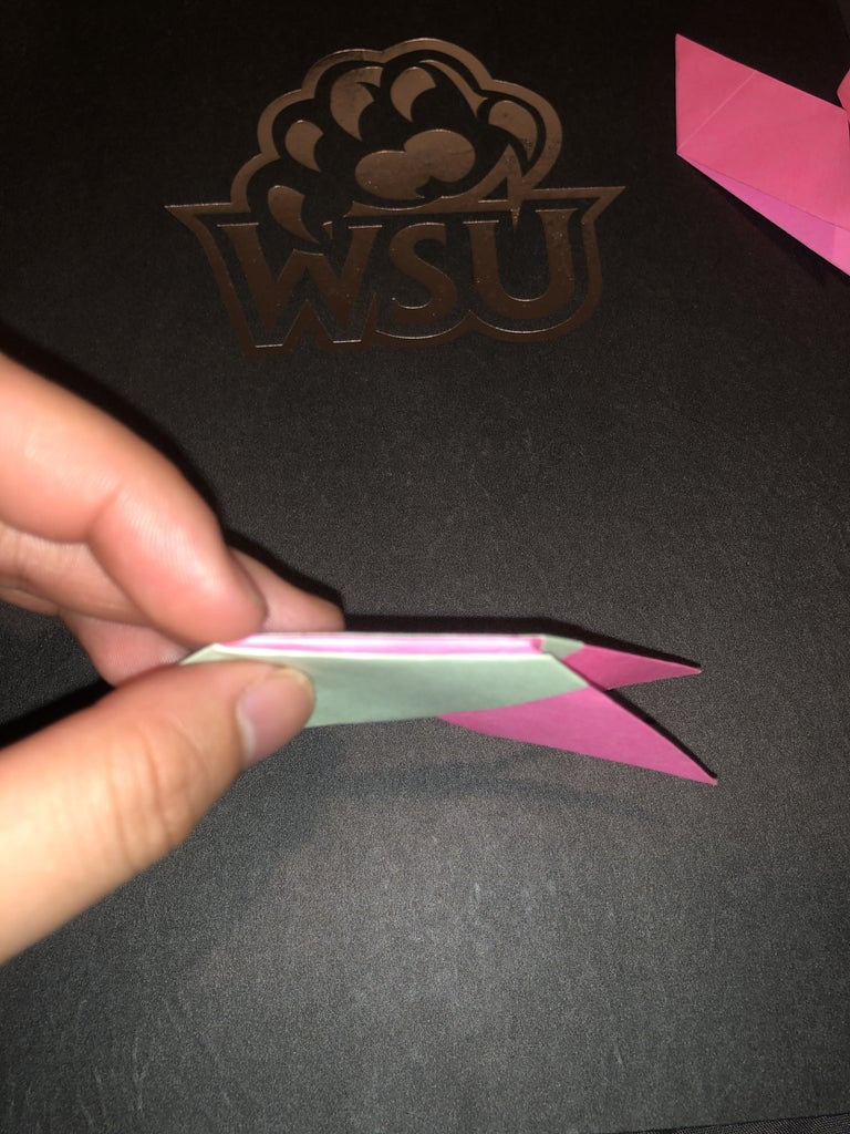 Fold Pointed Corner to Secure