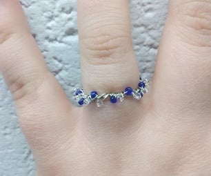 Easy But Beautiful Glass Beaded Wire Ring
