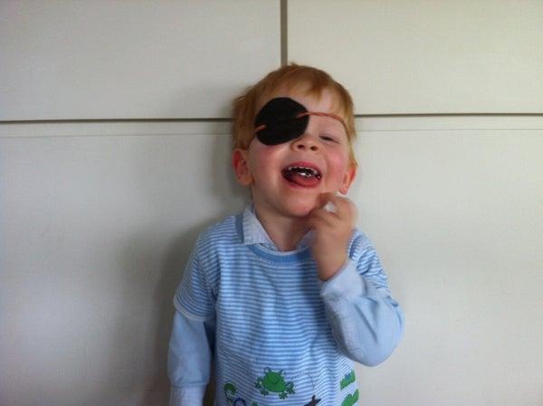 Cardboard Pirate Eye Mask