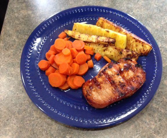 Brown Sugar and Pineapple Glazed Grilled Pork Chops