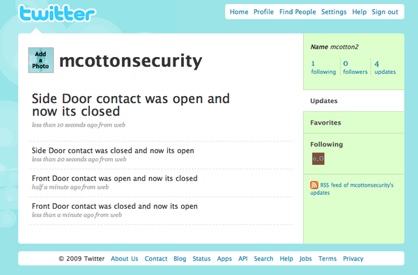 Combining Security System With Phidges and Twitter for Awesomeness