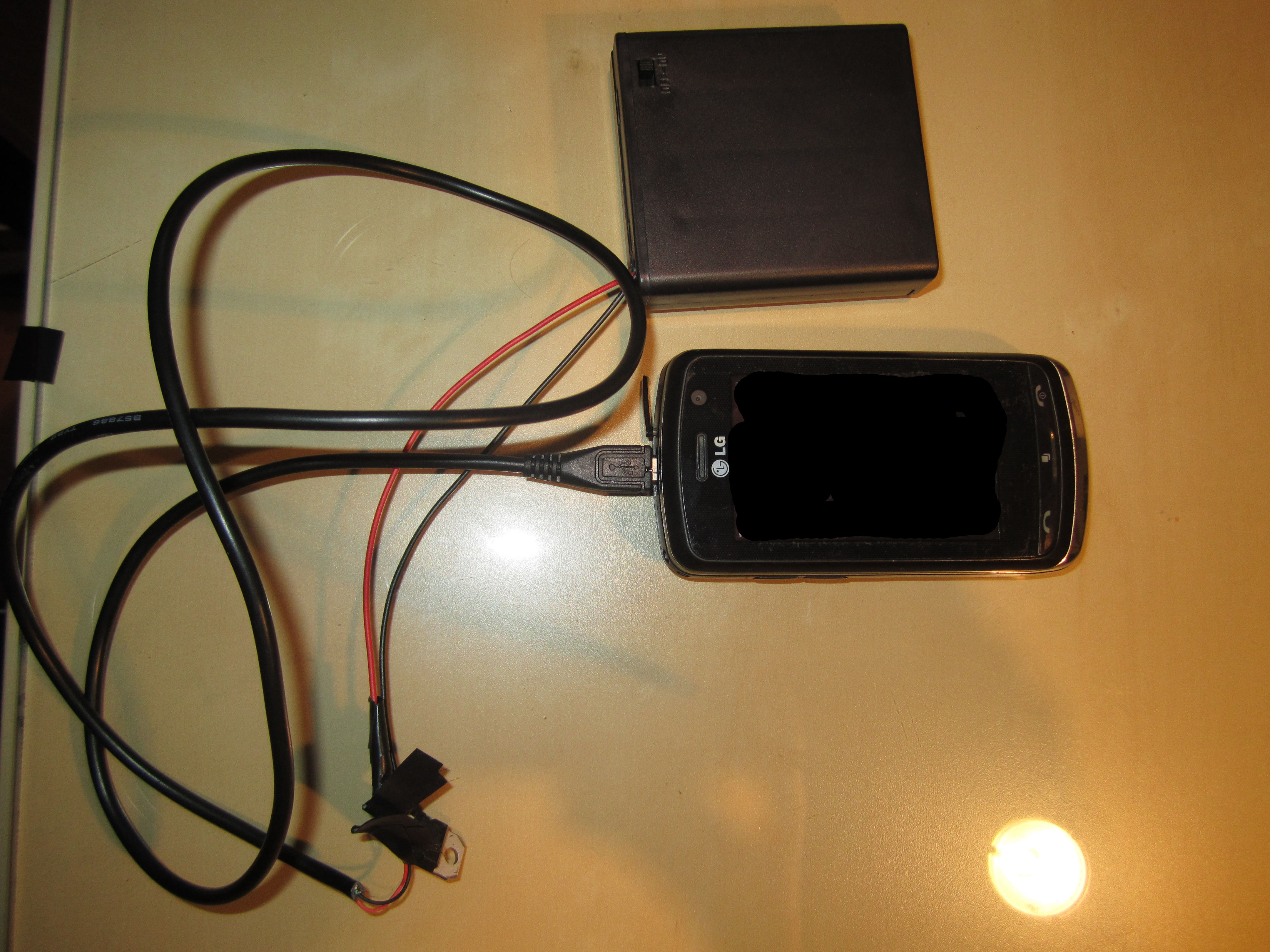Cell phone charger external battery charger
