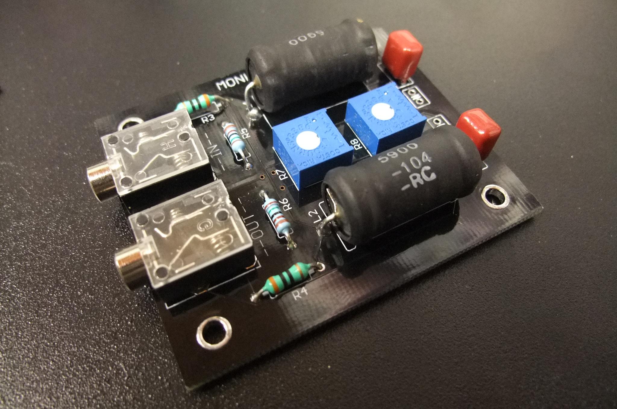 monoXover 2-way pre-amp audio crossover