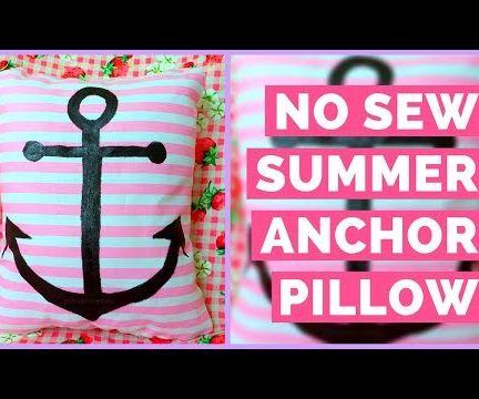 No Sew Summer Anchor Pillow DIY