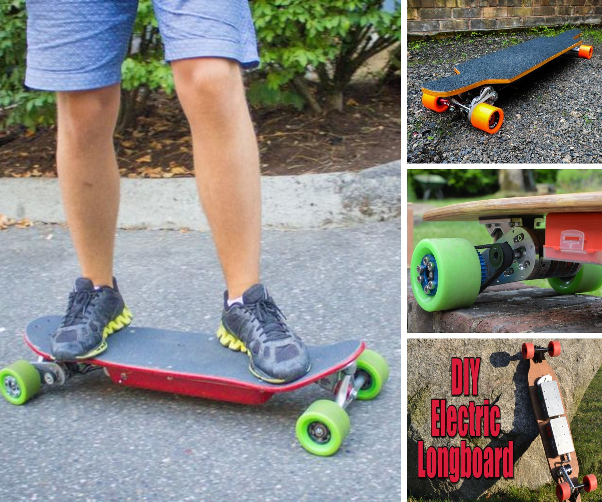 A Collection of Homemade Electric Motorized Skateboards (That You Must Make!)
