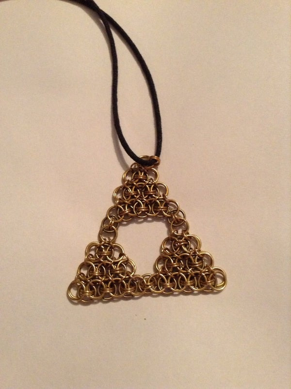 Triforce Chainmaille Pendant