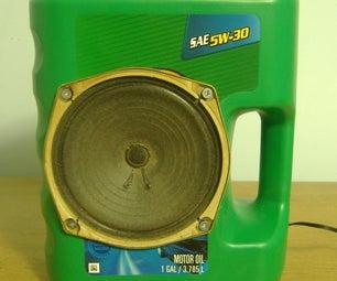 Oil Jug Speaker