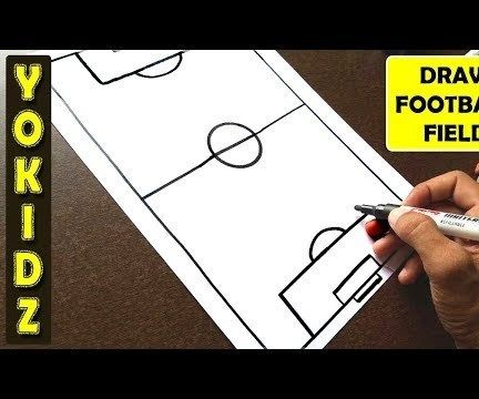 HOW TO DRAW FOOTBALL GROUND
