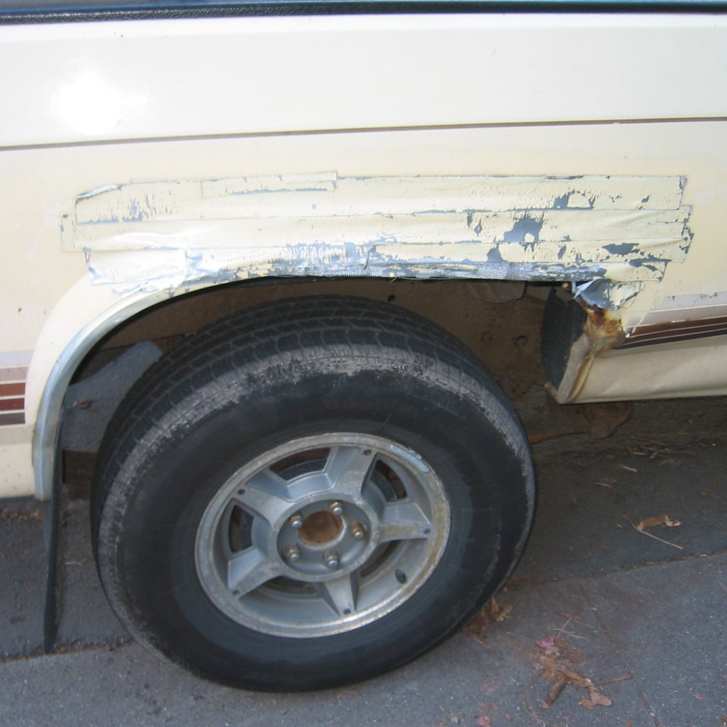 Duct Tape and Spraypaint Bodywork