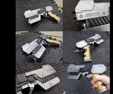 Paralyzer Blaster (Metroid) Mould and Cast