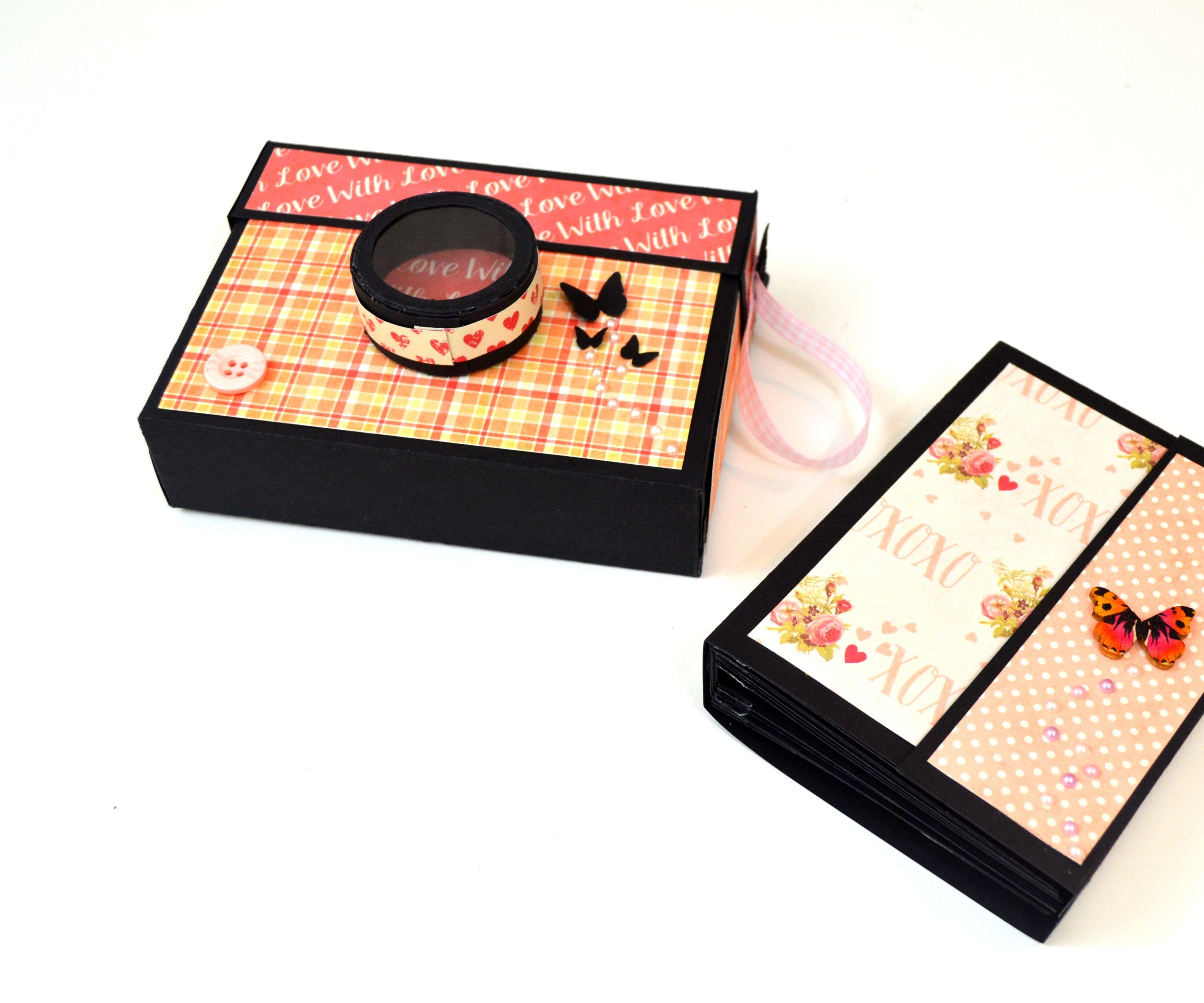 DIY Paper Crafts - How to Make a Photo Mini Album - Valentine's Day Gift Idea