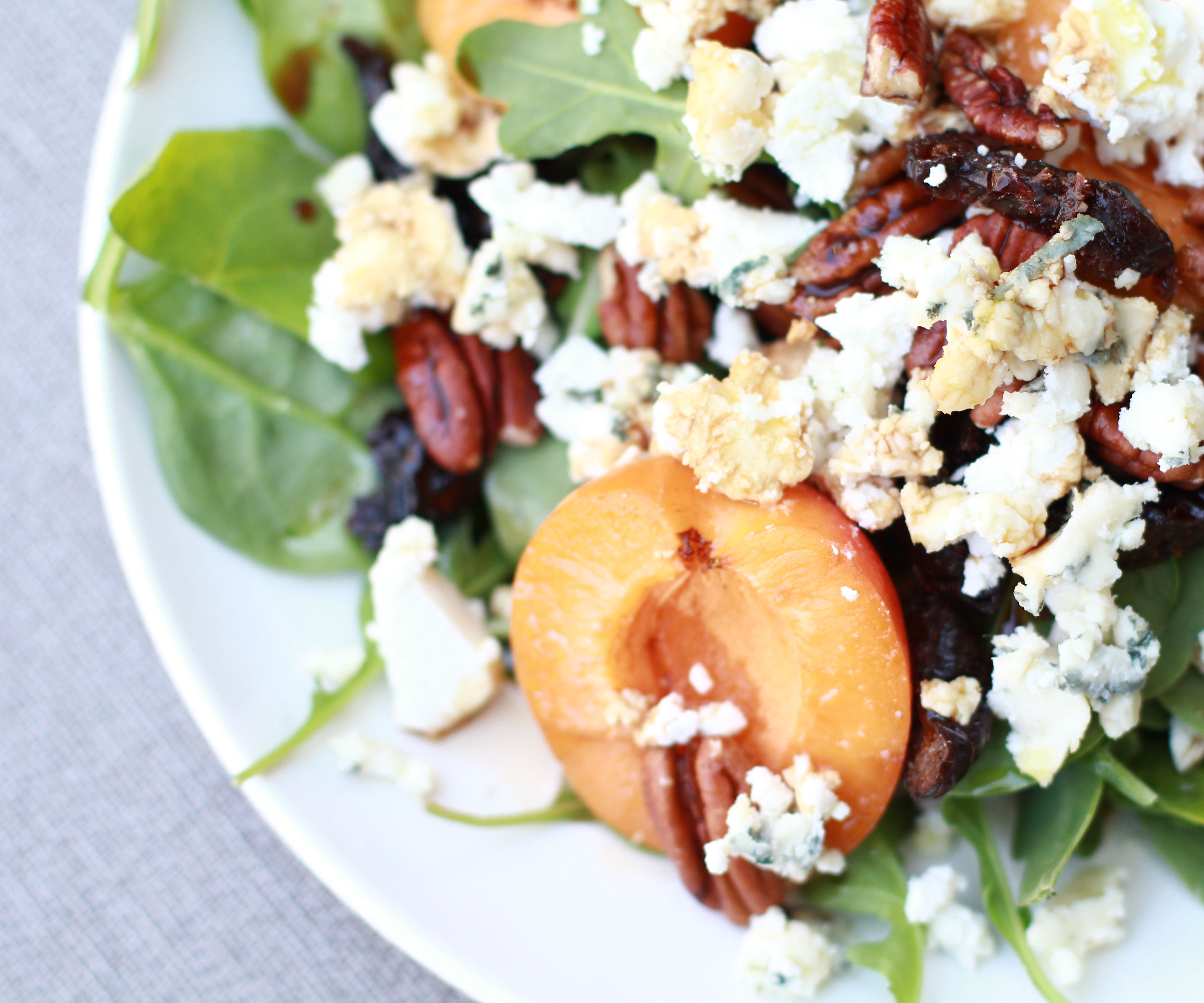 Apricot, Bleu Cheese, and Pecan Salad