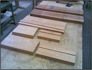 Cut Aprons, Dividers, Rails & Stretchers to Final Length
