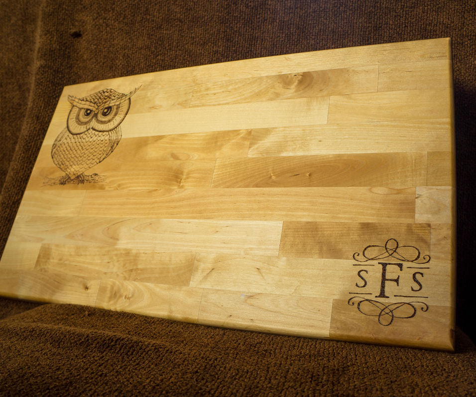 Wood Burning (Pyrography) Cutting Boards and Spoons as Christmas gifts