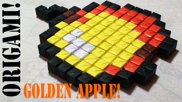 Minecraft Origami: Golden Apple BUDDER (Sonobe No Tape or Glue) - TCGames [HD]!