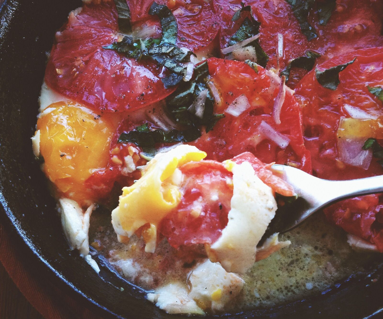 Cast Iron Baked Eggs